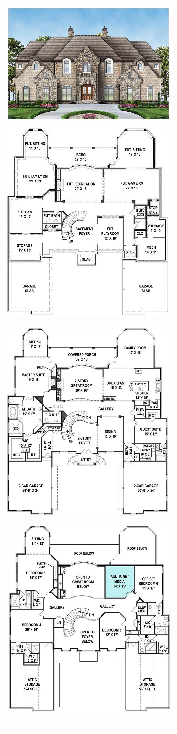 European French Country House Plan 72171 16