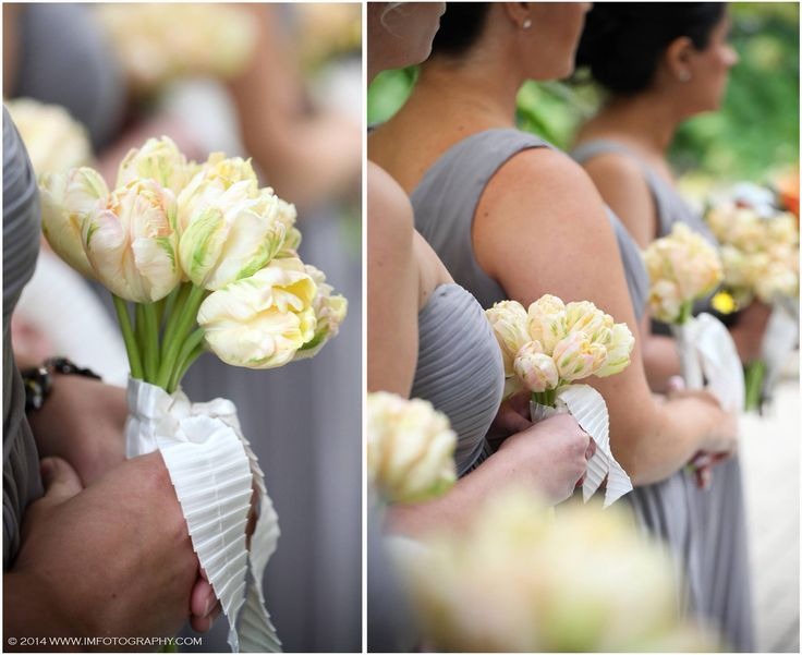 Sweet bridesmaids bouquets. www.imfotography.com