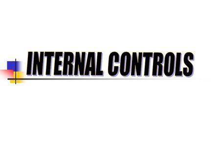 INTERNAL CONTROLS.>