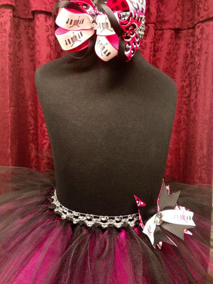 Jordan Themed Tutu Skirt Amp Matching Bow One Can Dream Of