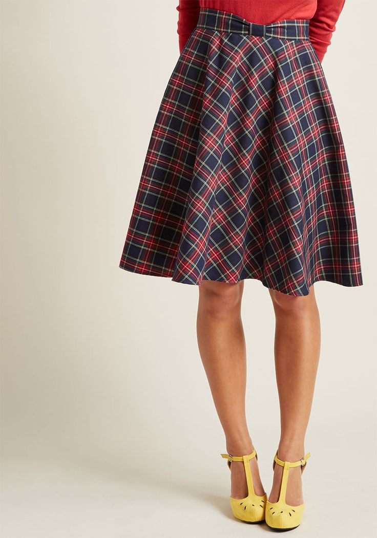 Swingy Skirt with Bow Waist from Mod Cloth in sizes XXS - 4X
