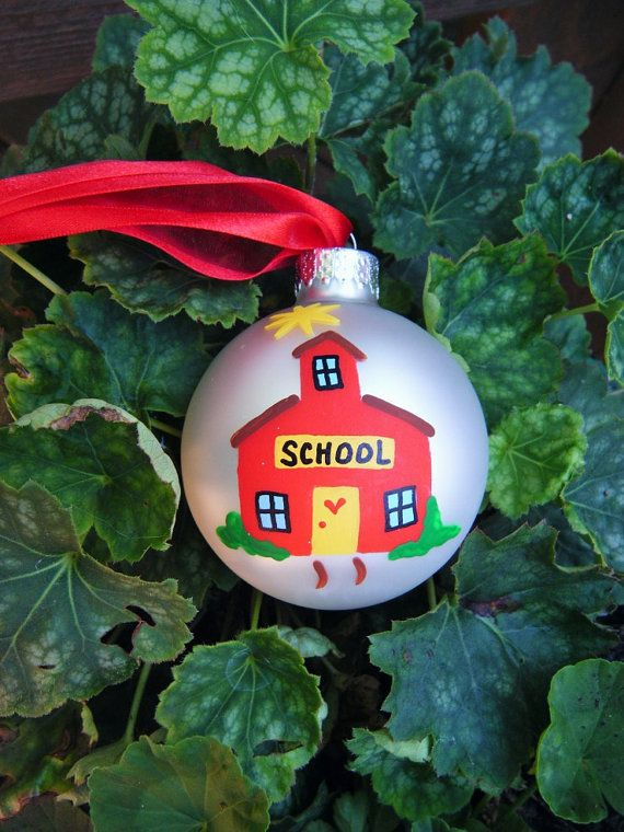 School House Ornament Personalized by BrushStrokeOrnaments, $19.75