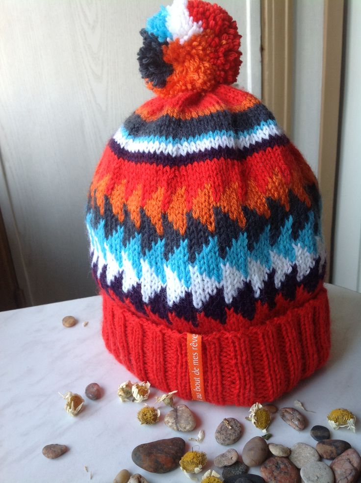 winter hat with knitted cotton lining
