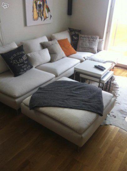 Söderhamn 4sits soffa m schäslong + fotpall  Shopping