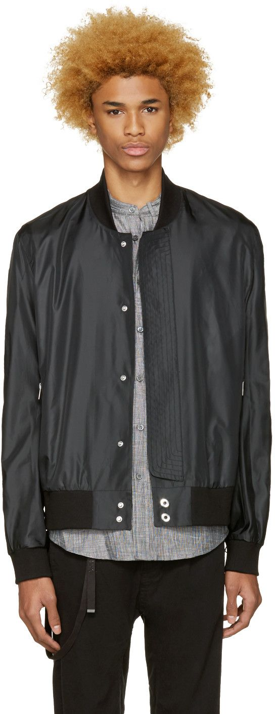 Public School - Black Hargreaves Bomber Jacket
