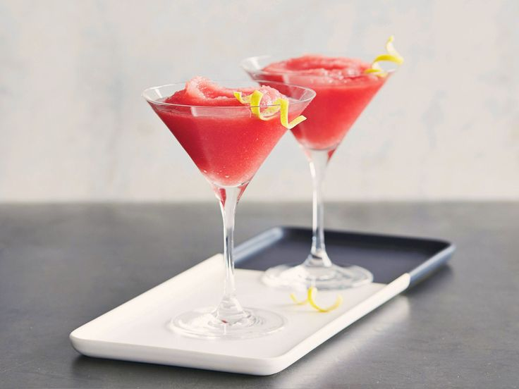 Watermelon Martinis : Combine frozen watermelon puree with vodka and ...