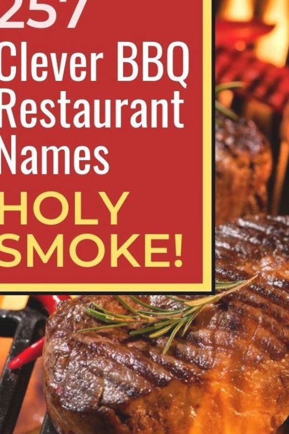 Catchy Barbeque Bbq Restaurant Names For Your Grill Or Food Truck Catchynames Bbq Restaurants Entreprene Barbecue Restaurant Bbq Restaurant Bbq Food Truck