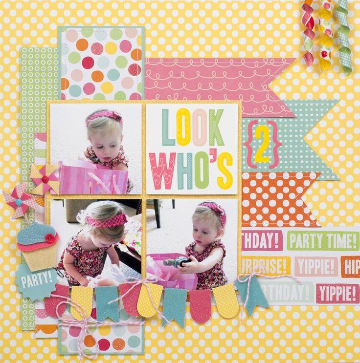 """Look Who's 2"" Layout *Pebbles* - Scrapbook.com"