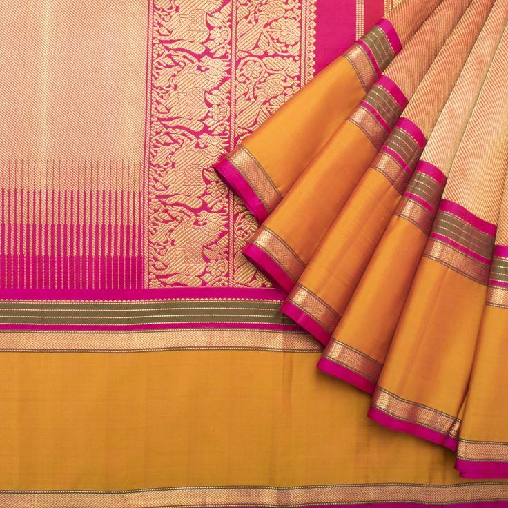 Kanakavalli Handwoven Kanjivaram Silk Sari 1014045 - Brands / Kanakavalli - Parisera