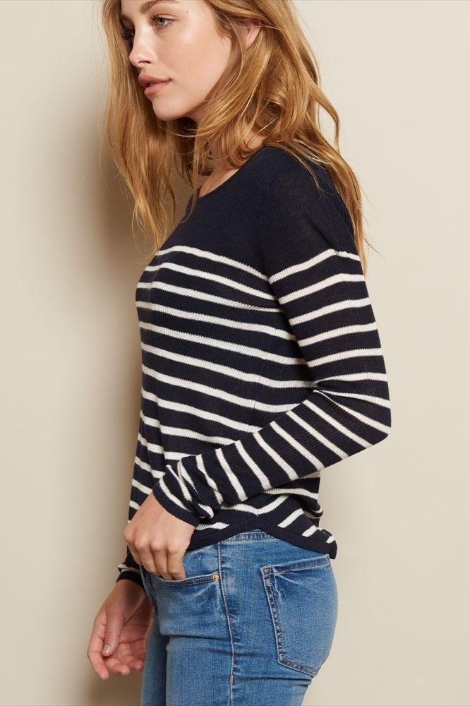 Crop Rounded Hem Sweater