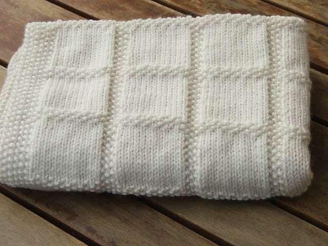 Coperte di lana ai ferri - Coperta bianca in lana
