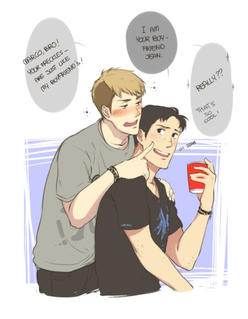 "I think drunk Jean is silly Jean. Imagine all the things he'll blurt out. ""Hey Jean, why do you think Marco actually likes you?"" ""Because I got a cute ass ..."