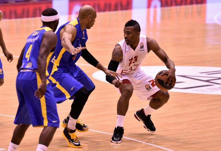 Keith Langford, basketball player of Olimpia Milano was wearing Air Jordan XIII during Euroleague match against Maccabi Tel Aviv 16.4.2014
