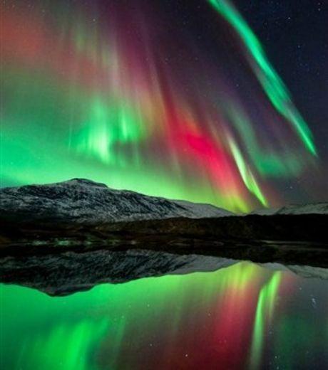 Cette aurore boréale a été immortalisée à Høgtuva Mountain, en Norvège (Crédit photo : Tommy Eliassen)