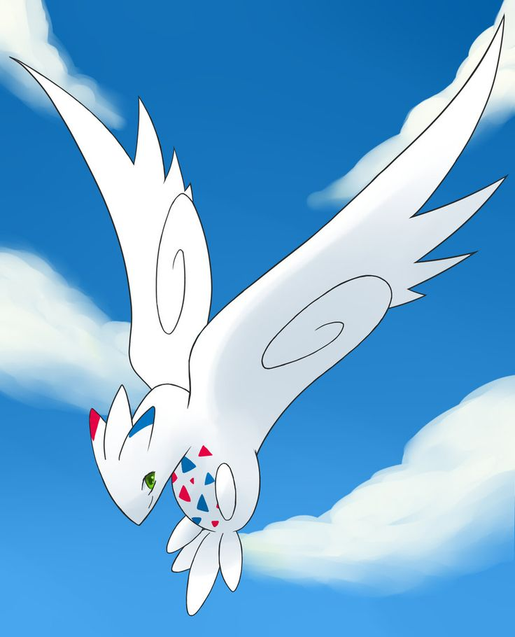 Fan art of my favorite flying type Pokemon, Togekiss. Looks a lot more graceful than its rounder original counterpart http://cdn.bulbagarden.net/upload/8/87/468Togekiss.png
