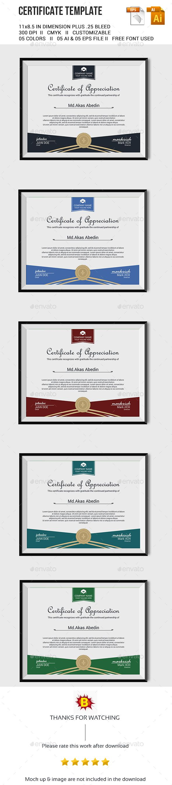 80 best diplome et certificat images on pinterest certificate certificate template vector eps ai download here httpgraphicriver yadclub Gallery