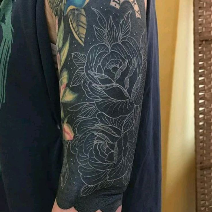 Blackout Tattoos With White Ink Black Tattoo Cover Up Cover Tattoo Blackout Tattoo