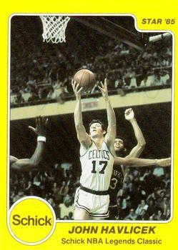 john havlicek trading cards | 1985 Star Schick Legends #12 John Havlicek Front