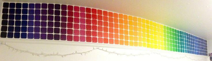 Dorm Room Revamp: Paint Chip Walls