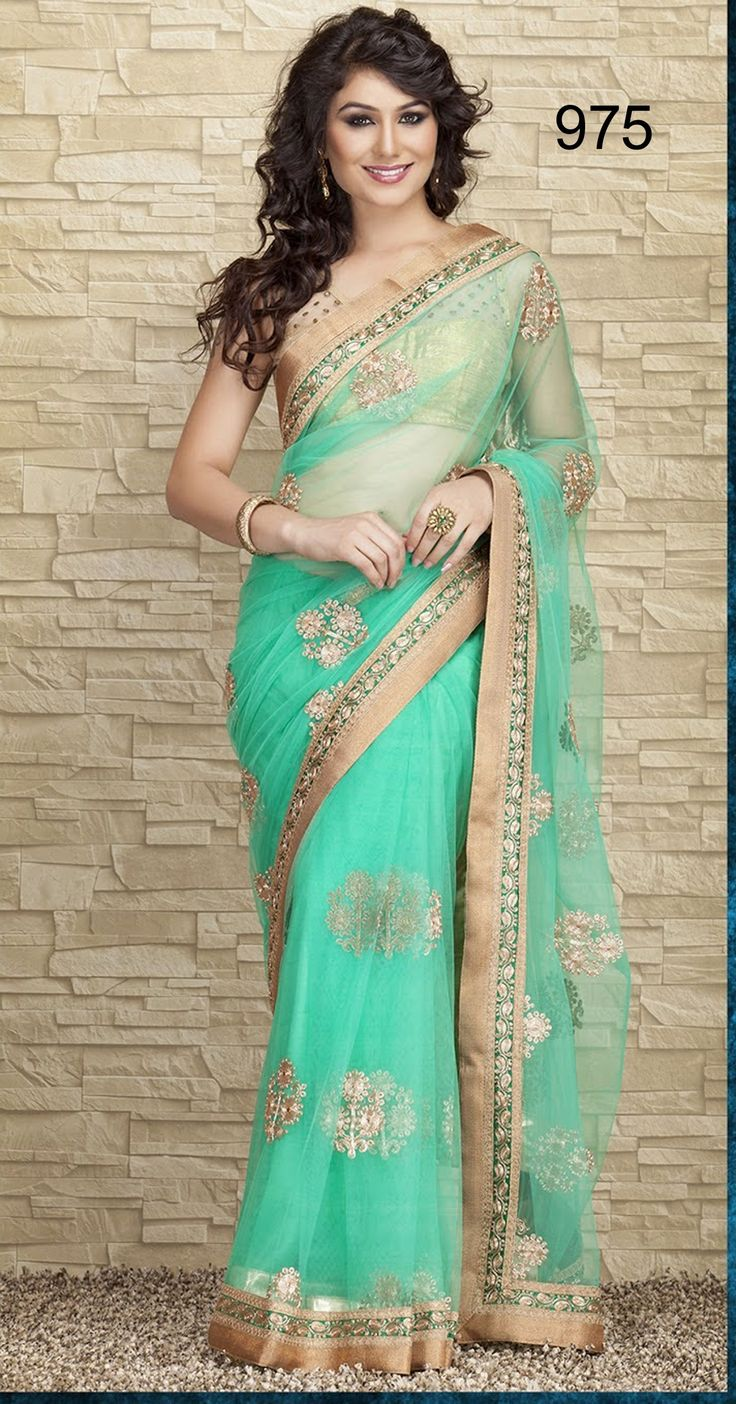 Designer saree 60gramm georget fabric with jari embroidery work anf plain blouse