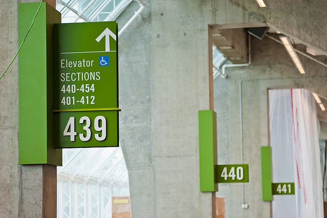 Interior Wayfinding Signage by BC Place, via Flickr