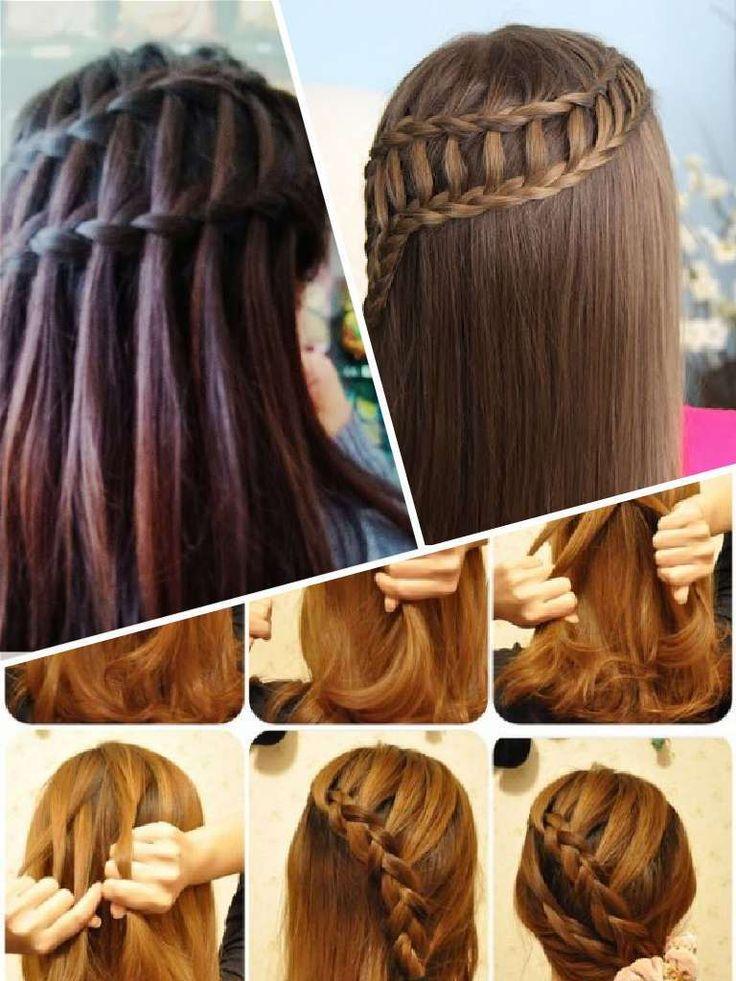 Ideas y paso a paso para trenza cascada doble Like this Hair Beauty Pinterest Ideas and