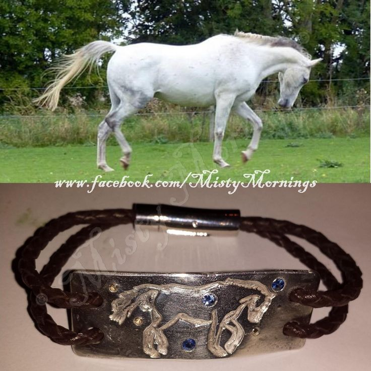 personalised horse outline in solid silver www.facebook.com/MistyMornings