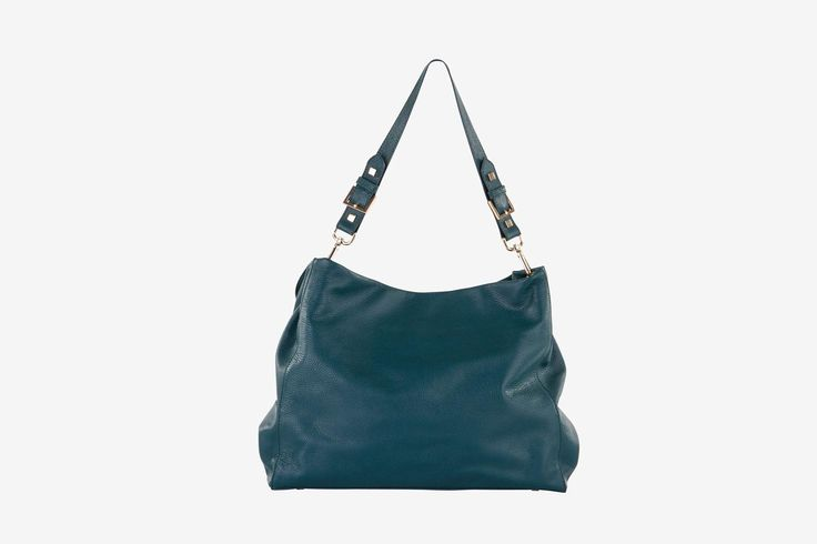 Minerva in teal pebbled calf leather - Back view.