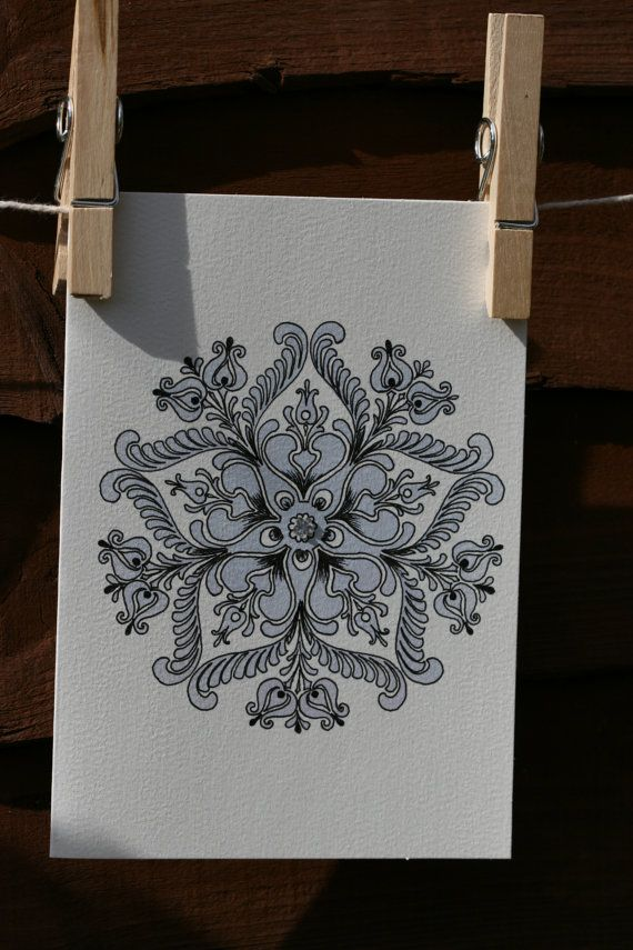 Handcrafted Handmade Greeting Card Hungarian Folk by Dreams10001, €5.00