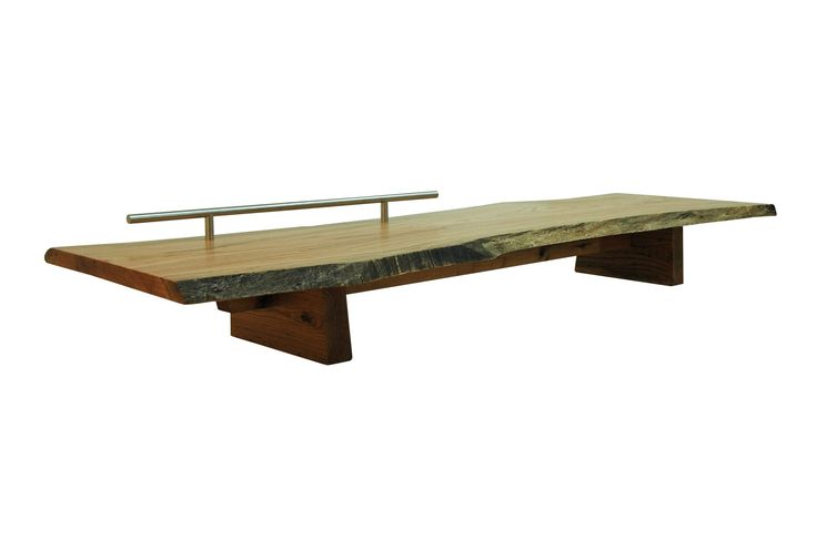 Buy Single Slab Bench by Aguirre Design - Made-to-Order designer Furniture from Dering Hall's collection of Rustic / Folk Mid-Century / Modern Traditional Benches.
