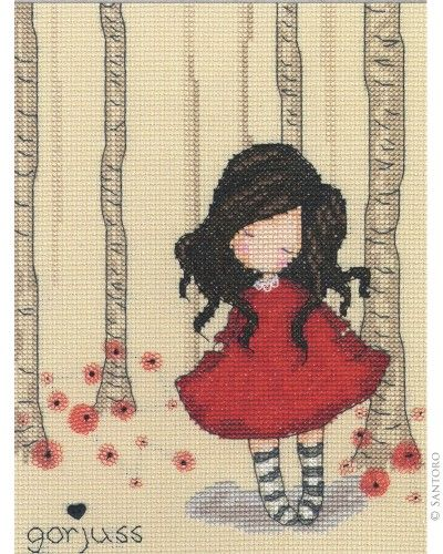 Gorjuss Counted Cross Stitch Kit - Poppy Wood
