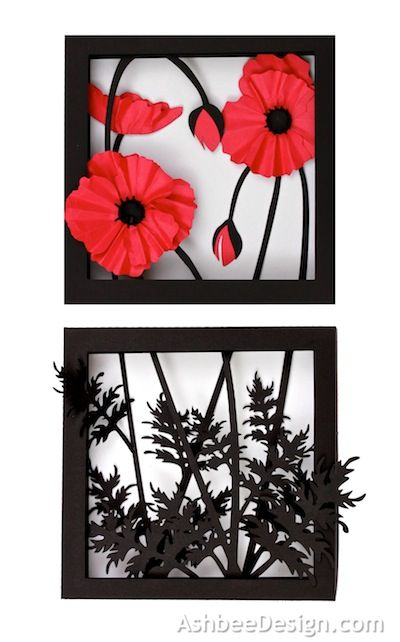 3d Poppy Shadow Box Silhouette Tutorial - Ashbee Design