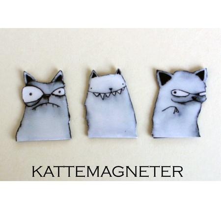 Kattemagneter 3stk