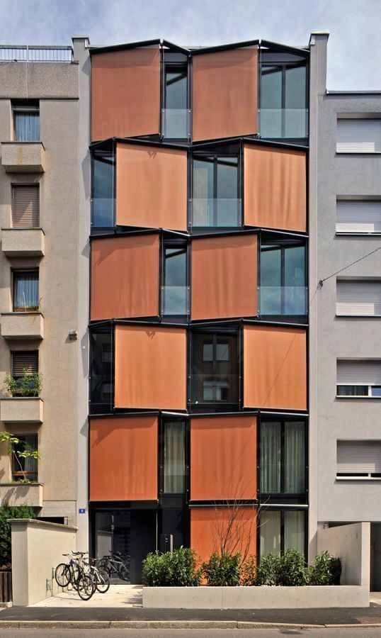 Fassade Blasser Architekten – Dornacherstrasse apartments, Basel 2010. – #Apartments #Ar…