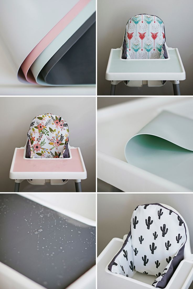 This is a total game changer! Get a $20 IKEA highchair and then customize it with placemats and covers from this site! It's actually going to be fun to highchair shop!