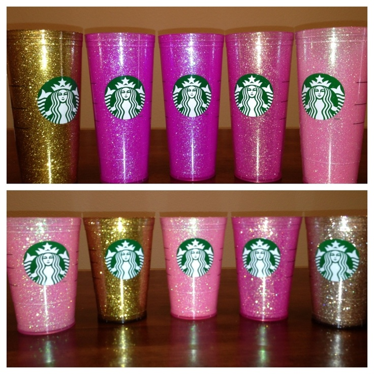 Made to order glitter Starbucks cups  www.Etsy.com/shop/bellapallino