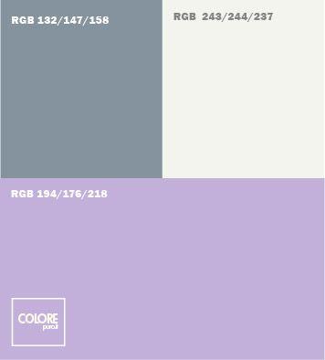 Tabella abbinamento colore viola