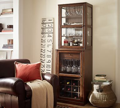 "Saxton Entertaining Single Bar Tower #potterybarn   Set: 24"" wide x 20"" deep x 77.25"" high $989"