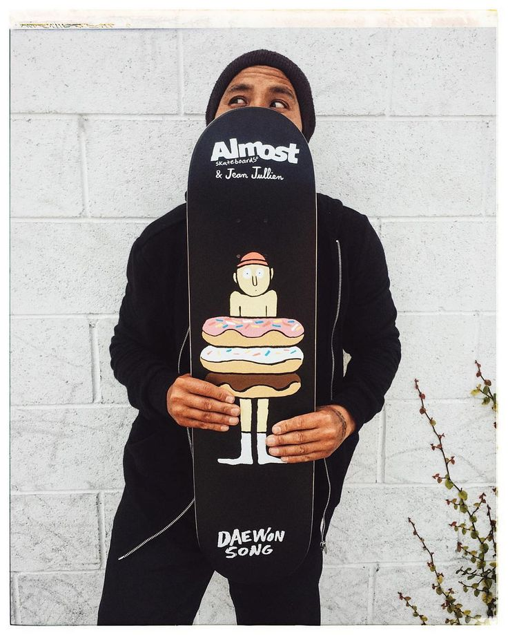 @daewon1song and his @almostskateboards x @jean_jullien  by dwindledistribution