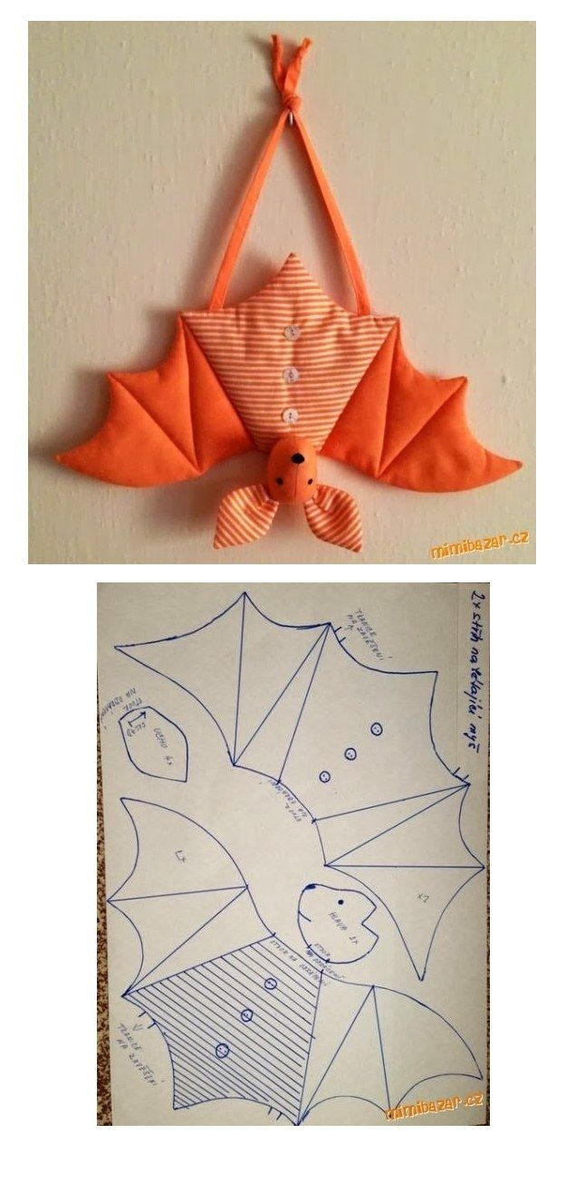 Free bat sewing pattern