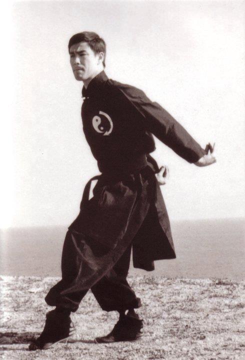 Bruce Lee Practicing Wing Chun