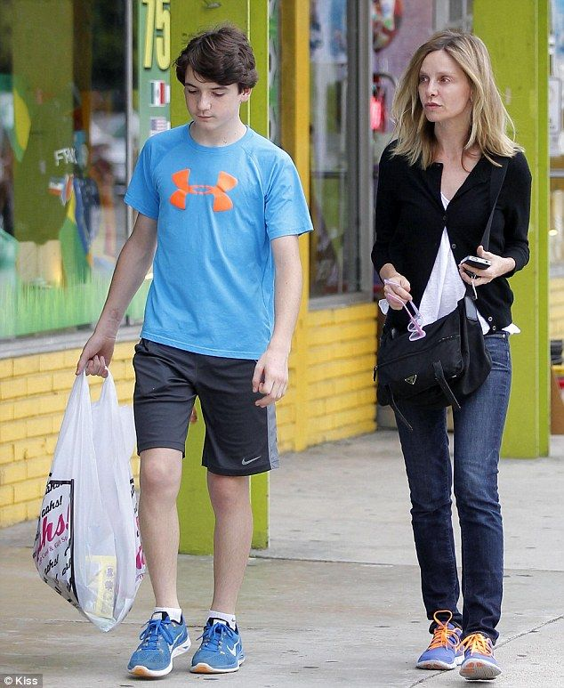 Actress Calista Flockhart (Ally McBeal) and adopted son ...