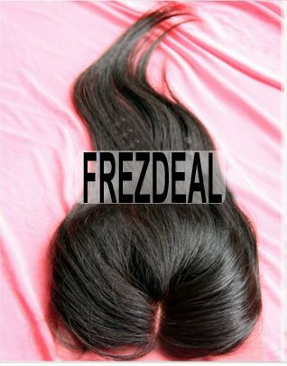 1 Pc 10inch Free Shipping Top Closure Brazilian Virgin Hair,Straight Textures,Swiss Lace 4*3.5