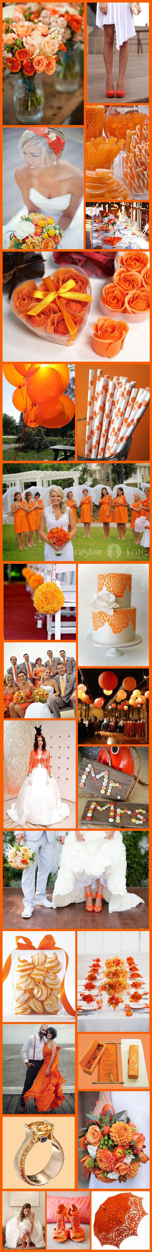 Formas de usar naranja elegantemente