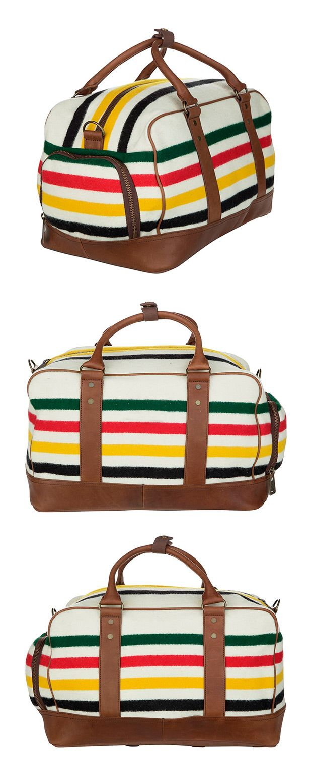 This travel bag is a veritable organization wiz, featuring cleverly hidden pockets for all your travel accessories—including a handy shoe compartment. The attractive stripe pattern is hard to miss, whi...  Find the Atherton Travel Bag by Pendleton, as seen in the Glamping in the Lone Star State Collection at http://dotandbo.com/collections/glamping-in-the-lone-star-state?utm_source=pinterest&utm_medium=organic&db_sku=113302