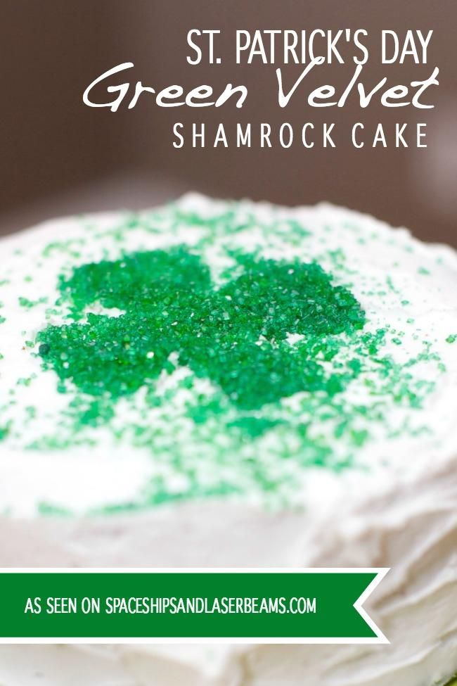 Green Velvet Cake for St. Patrick's Day