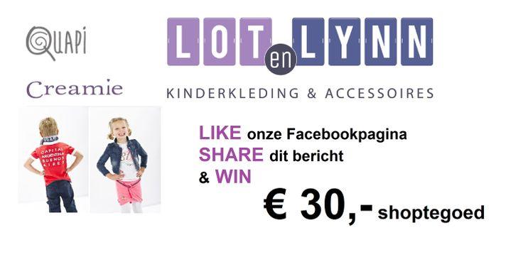 Help Lot en Lynn Lifestyle aan de 600 vrienden en win 30 euro aan shoptegoed. https://www.facebook.com/lotenlynnlifestyle