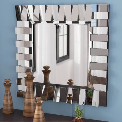 Square Silver Wall Mirror