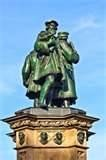 statue of Johannes Gutenberg, in Frankfurt, inventor of book printing ...