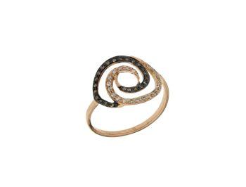 Δαχτυλίδι σε Ροζ Χρυσό 18Κ Σπείρα με Διαμάντια λευκά και κονιάκ #Ring  #Pink_Gold #Spiral #diamonds #white_diamonds  #handmade #craftsmanship #goldsmith #Thessaloniki #Greece 26624